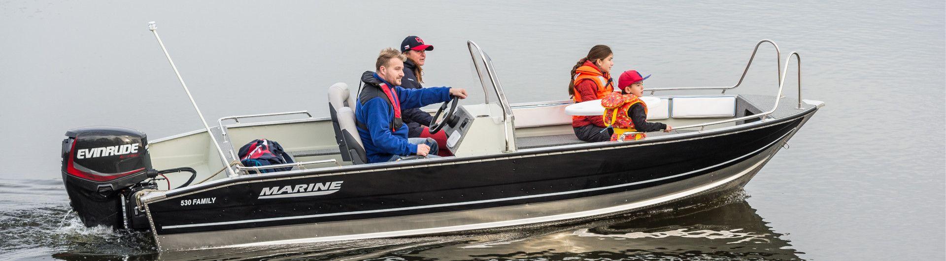 Aluminiumboot Marine 530 Family Header