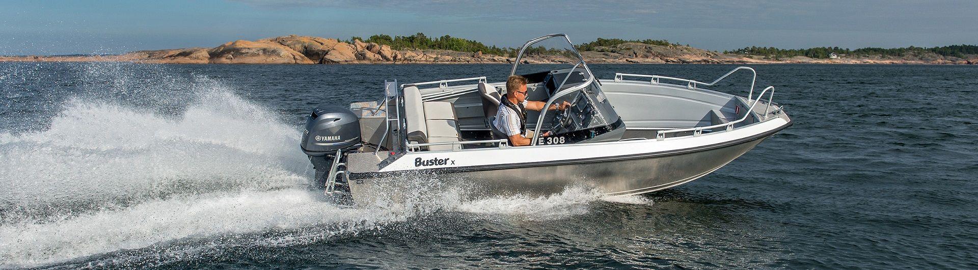 Sportboot Aluminiumboot Buster X header