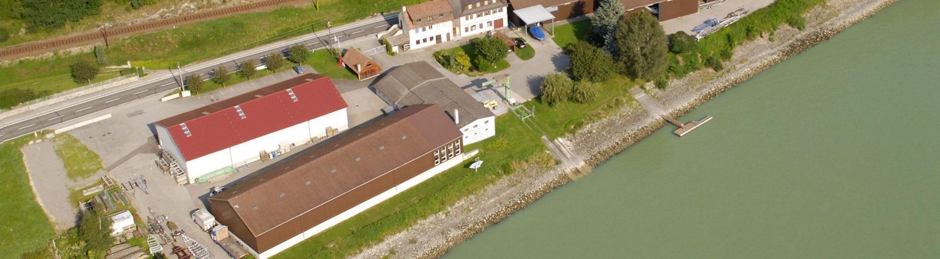 Meyer Bootswerft Luftbild Hallen Winterlager Header